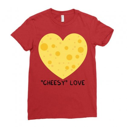 Cheesy Love Ladies Fitted T-shirt Designed By Arsyad