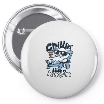 Chillin' Like A Kitten Pin-back Button Designed By Arsyad