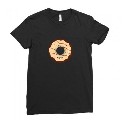 Chocolate Donut Ladies Fitted T-shirt Designed By Arsyad