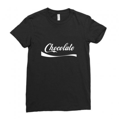 Chocolate Ladies Fitted T-shirt Designed By Arsyad