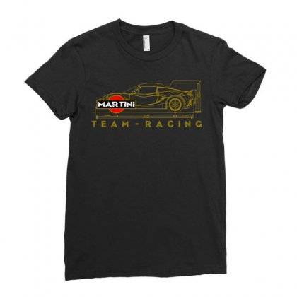 Martini Team Racing Ladies Fitted T-shirt Designed By Animestars