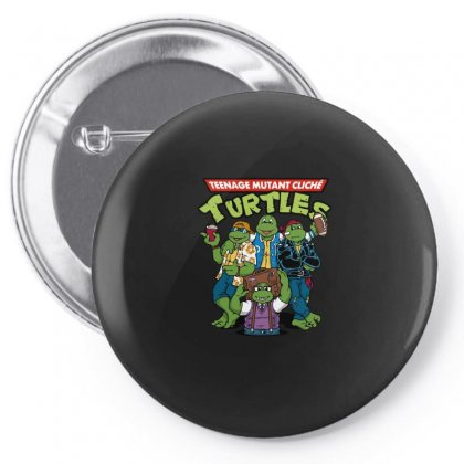 Cliché Turtlres Pin-back Button Designed By Arsyad