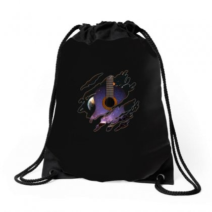 Space Guitar Inside Drawstring Bags Designed By Omer Acar