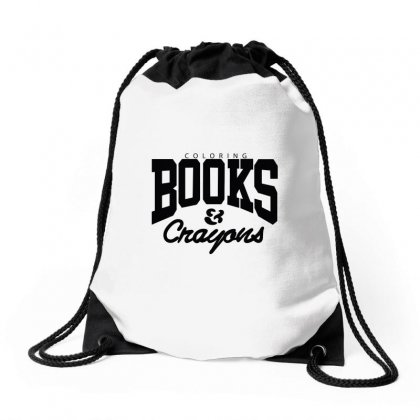 Coloring Books And Crayons Drawstring Bags Designed By Arsyad