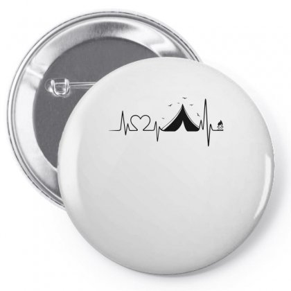 Heartbeat Camper Pin-back Button Designed By Omer Acar
