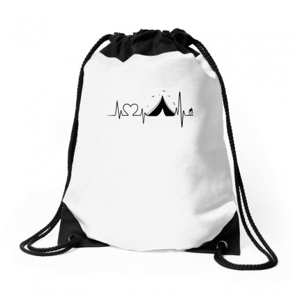 Heartbeat Camper Drawstring Bags Designed By Omer Acar