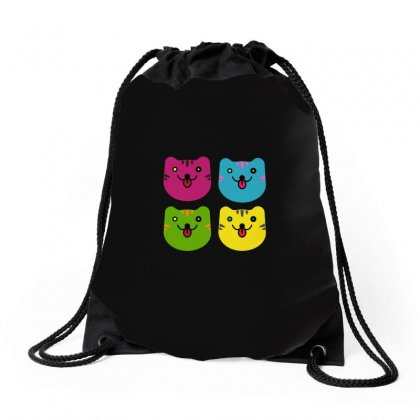 Colors Cats Drawstring Bags Designed By Arsyad