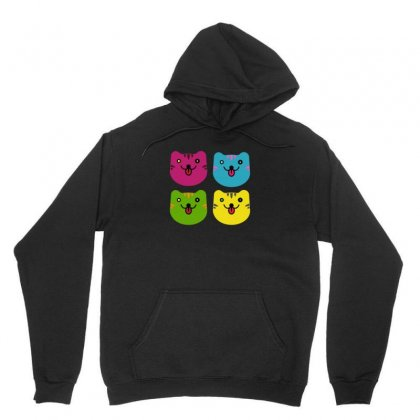 Colors Cats Unisex Hoodie Designed By Arsyad
