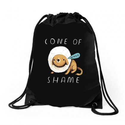 Cone Of Shame Drawstring Bags Designed By Arsyad