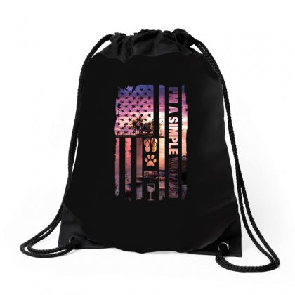 I'm A Simple Woman Drawstring Bags Designed By Omer Acar