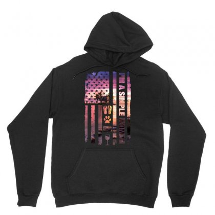 I'm A Simple Woman Unisex Hoodie Designed By Omer Acar