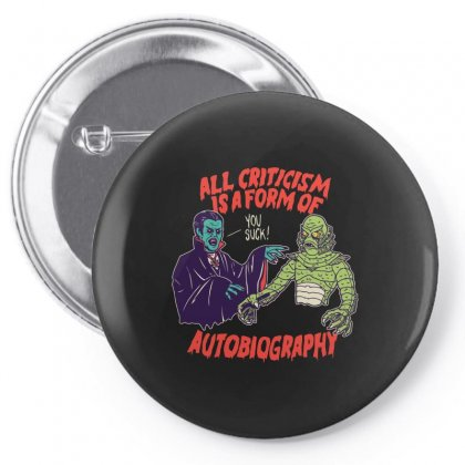 Criticism Is Autobiography Pin-back Button Designed By Arsyad