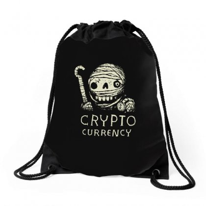 Crypto Currency Drawstring Bags Designed By Arsyad