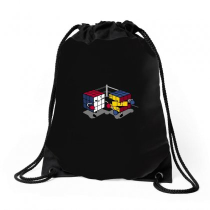 Cube Fight! Drawstring Bags Designed By Arsyad