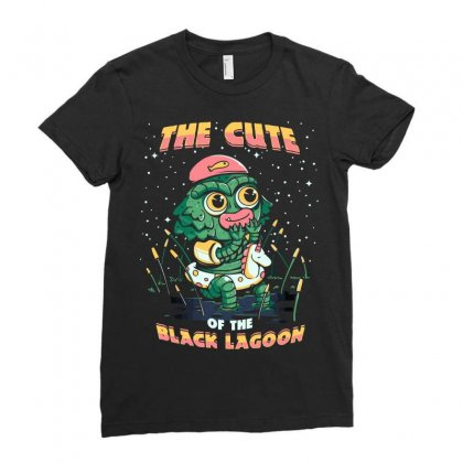 Cute Of The Black Lagoon! Ladies Fitted T-shirt Designed By Arsyad