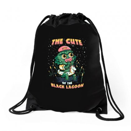 Cute Of The Black Lagoon! Drawstring Bags Designed By Arsyad