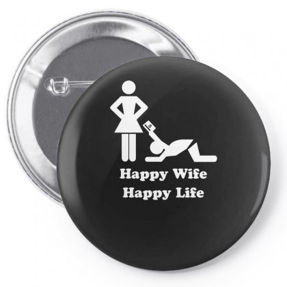 Happy Wife Happy Life Pin-back Button Designed By Erryshop