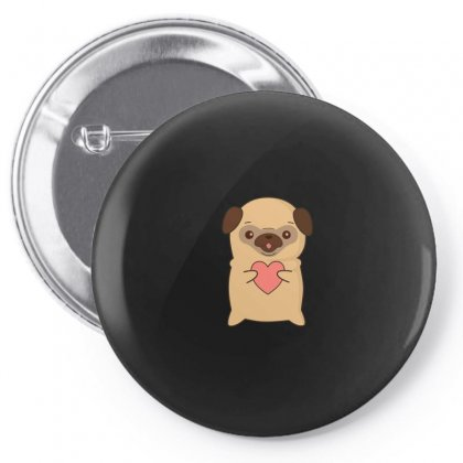 Cutie Pug With Heart Pin-back Button Designed By Arsyad