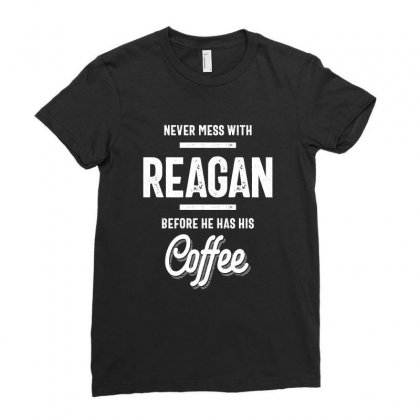 Reagan Name Funny T-shirt Ladies Fitted T-shirt Designed By Cidolopez