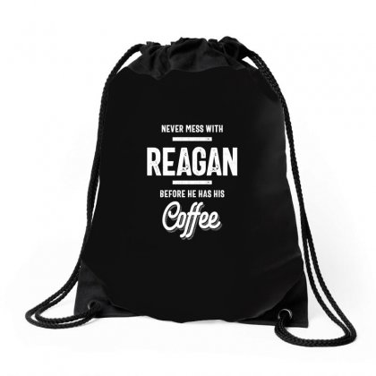 Reagan Name Funny T-shirt Drawstring Bags Designed By Cidolopez