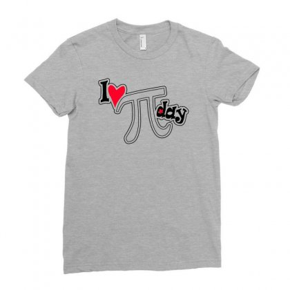 I Heart Pi Day Ladies Fitted T-shirt Designed By Erryshop