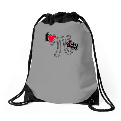 I Heart Pi Day Drawstring Bags Designed By Erryshop