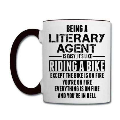 Being A Literary Agent Is Like Riding A Bike Coffee Mug Designed By Sabriacar