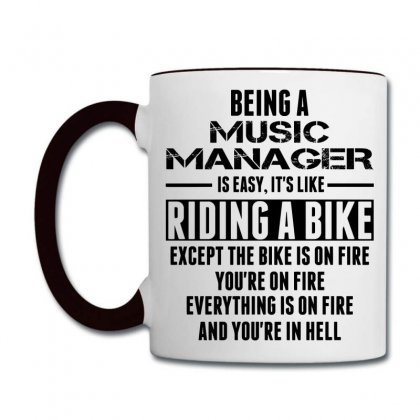 Being A Music Manager Is Like Riding Bike Coffee Mug Designed By Sabriacar