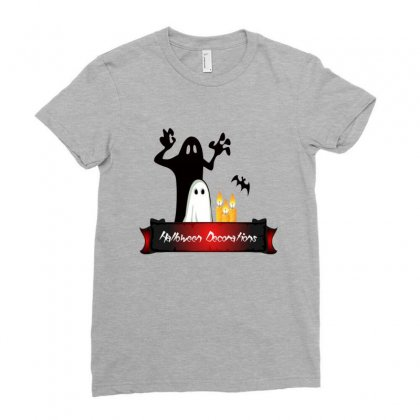 Halloween Decorations Ladies Fitted T-shirt Designed By Platinumshop