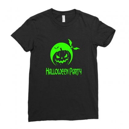 Halloween Party Ladies Fitted T-shirt Designed By Platinumshop
