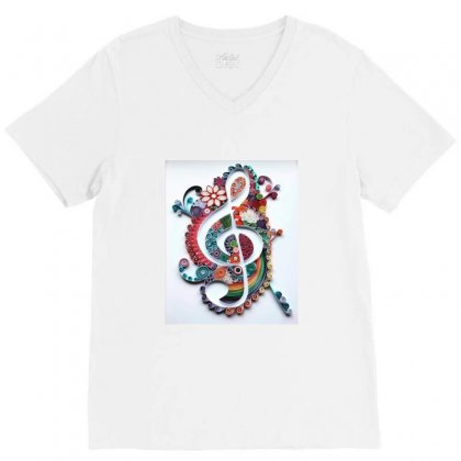 Sweet Tshirt V-neck Tee Designed By Arial