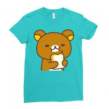 Rilakkuma Rila Head Ladies Fitted T-shirt Designed By Butterfly99