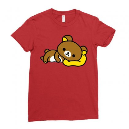 Rilakkuma Rila Head Shirt Ladies Fitted T-shirt Designed By Butterfly99