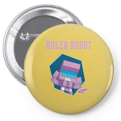 Ruler Robot Pin-back Button Designed By Butterfly99