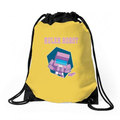 Ruler Robot Drawstring Bags Designed By Butterfly99