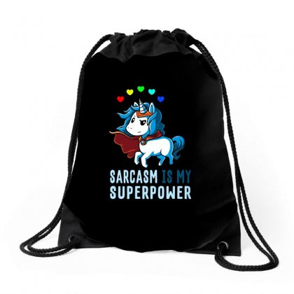 Sarcasm Is My Superpower Drawstring Bags Designed By Butterfly99