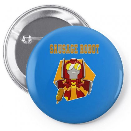 Sausage Robot Pin-back Button Designed By Butterfly99