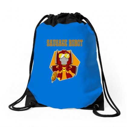 Sausage Robot Drawstring Bags Designed By Butterfly99
