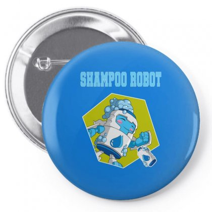 Shampoo Robot Pin-back Button Designed By Butterfly99