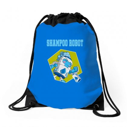 Shampoo Robot Drawstring Bags Designed By Butterfly99