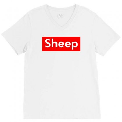 Sheep V-neck Tee Designed By Butterfly99