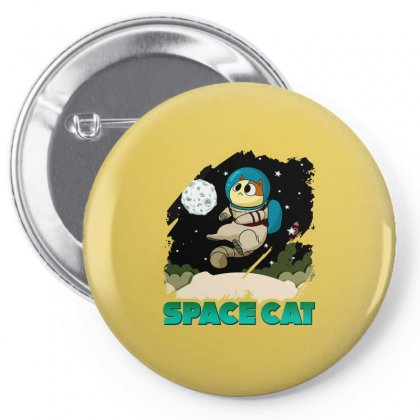 Space Cat Pin-back Button Designed By Butterfly99