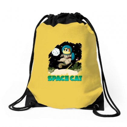 Space Cat Drawstring Bags Designed By Butterfly99