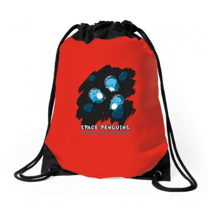 Space Penguins Drawstring Bags Designed By Butterfly99