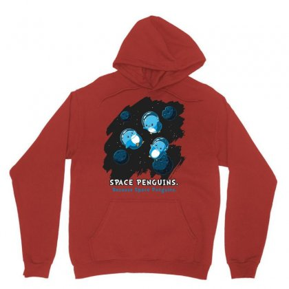 Space Penguins Unisex Hoodie Designed By Butterfly99