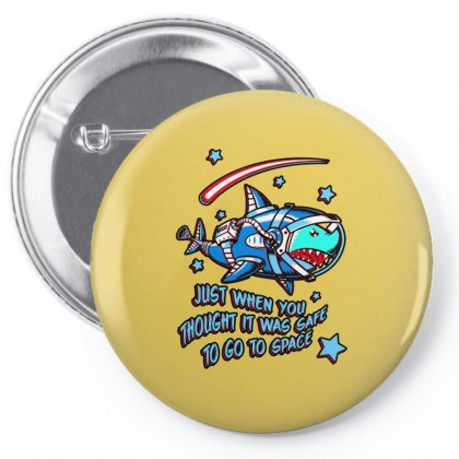 Space Shark Astronaut Pin-back Button Designed By Butterfly99