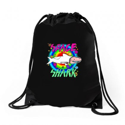 Space Shark Drawstring Bags Designed By Butterfly99