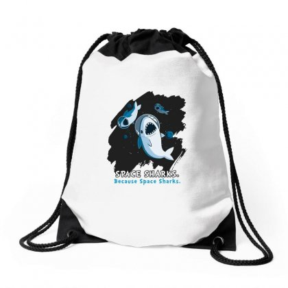 Space Sharks From Teeturtle Drawstring Bags Designed By Artwoman