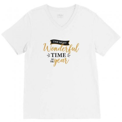 The Most Wonderful Time Of The Year V-neck Tee Designed By Estore