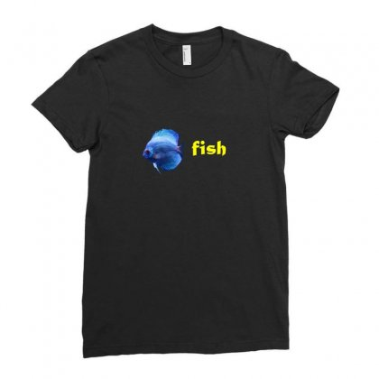 Fish Ladies Fitted T-shirt Designed By Khadouj